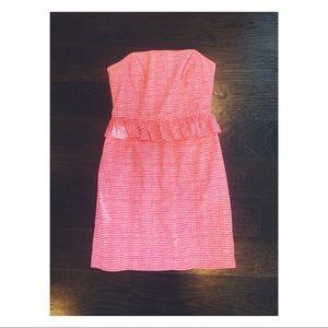 Lilly Pulitzer Spring Peplum Gingham Dress